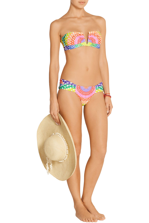 Mara Hoffman Electrolight printed bandeau bikini