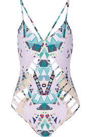 Maristar cutout printed swimsuit