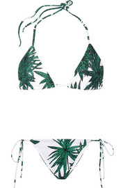 Harvest printed triangle bikini