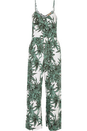Harvest printed voile jumpsuit