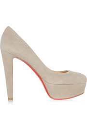 Vickybass 120 suede platform pumps