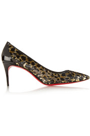 Christian Louboutin Saramor 70 metallic fil coupé pumps