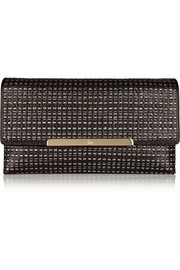 Rougissime Optic woven leather clutch