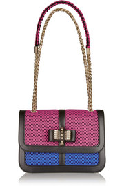 Christian Louboutin Sweet Charity small leather and mesh shoulder bag
