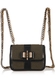 Christian Louboutin Sweet Charity mini patent-leather and glittered PVC backpack