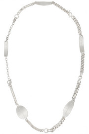 Rhodium-plated necklace