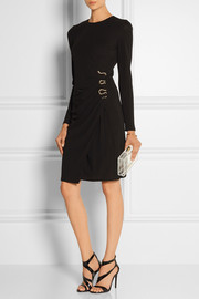 Roberto Cavalli Embellished ruched stretch-jersey dress