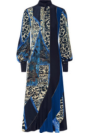 Roberto Cavalli Printed silk midi dress