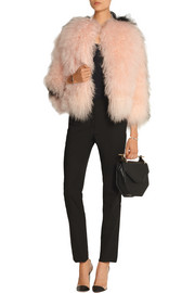Two-tone shearling jacket
