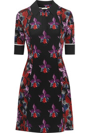 Fendi Printed silk-cady mini dress