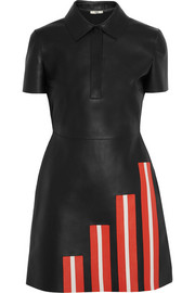 Fendi Striped leather mini dress