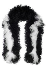 Two-tone shearling scarf