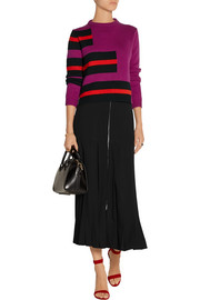Fendi Pleated crepe midi skirt