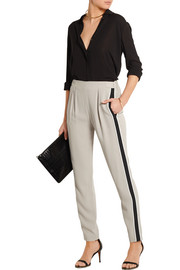 Fendi Striped crepe tapered pants