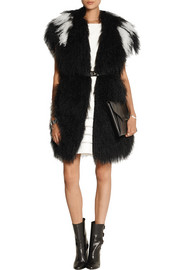 Two-tone shearling gilet