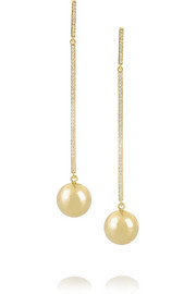 Cyclos 18-karat gold diamond drop earrings