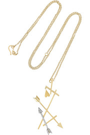 Eros 18-karat gold diamond necklace