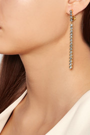 Line 18-karat gold diamond earrings