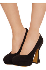 This Is Not A Shoe suede platform pumps