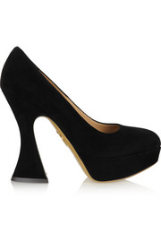 Charlotte Olympia This Is Not A Shoe suede platform pumps