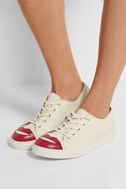 Charlotte Olympia Kiss Me textured-leather sneakers