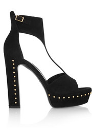 Eagle studded suede platform sandals
