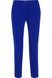 Stretch-crepe tapered pants