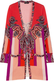 Etro Printed silk and cashmere-blend cardigan