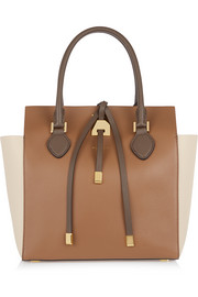 Miranda medium color-block leather tote