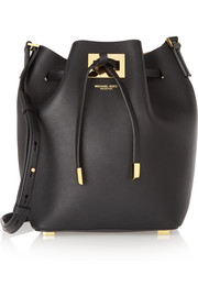 Michael Kors Miranda small leather bucket bag