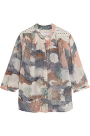 See by Chloé Printed crepe-chiffon top