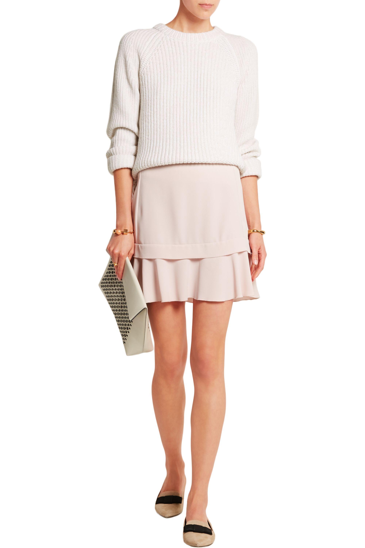 See By Chloé Ruffled crepe mini skirt