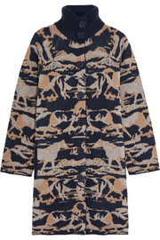See by Chloé Intarsia wool coat