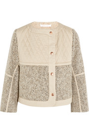 See by Chloé Wool-blend tweed jacket