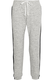 Avenue D cotton-blend jersey track pants