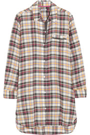 Plaid Perfect brushed cotton-blend nightdress