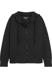 Brooklyn Lounger cotton-blend jacquard hooded top