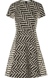Cotton-blend jacquard mini dress