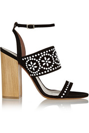 Tabitha Simmons Blaze embellished suede sandals