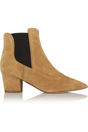 Shadow suede ankle boots
