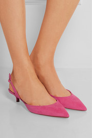 Lily suede slingback pumps