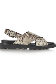 Gramercy snake-effect leather sandals