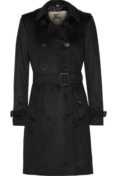 Burberry - Cashmere Trench Coat - Black