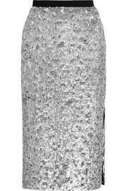 Burberry London Sequined tulle pencil skirt
