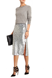 Sequined tulle pencil skirt