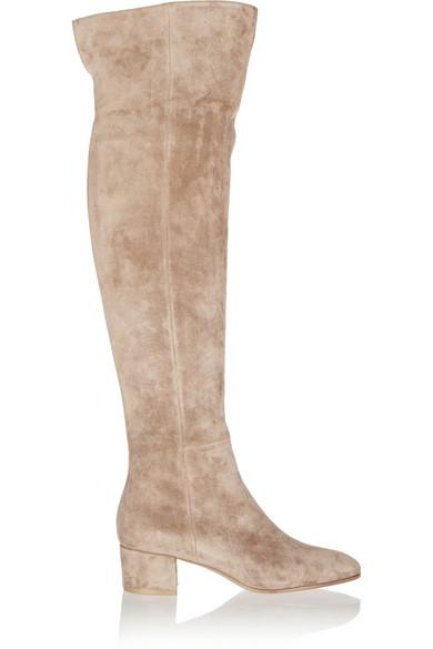 gianvito rossi female 186518 gianvito rossi suede overtheknee boots beige