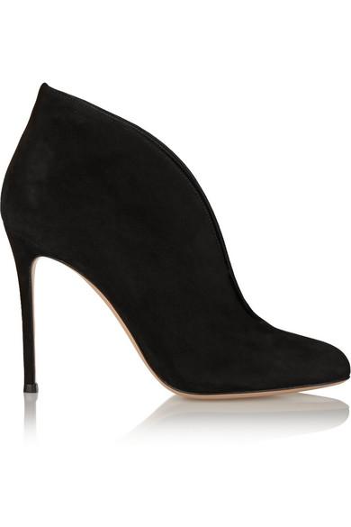 gianvito rossi female 188971 gianvito rossi vamp 100 suede ankle boots black