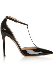 Gianvito Rossi Patent-leather T-bar pumps