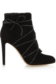 Gianvito Rossi Shearling-lined suede ankle boots