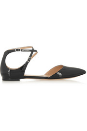 Gianvito Rossi Patent-leather point-toe flats